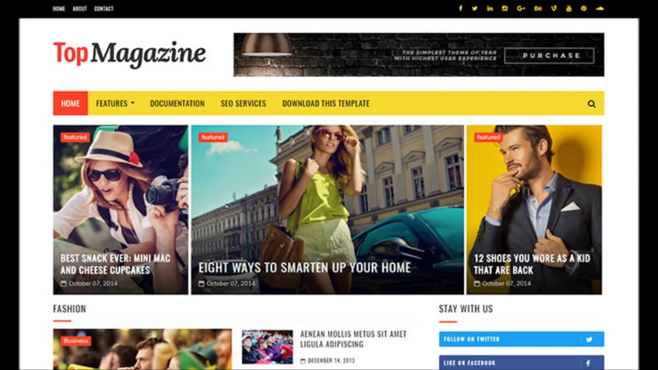 Top Magazine Blogger Template Free Download - YouTube