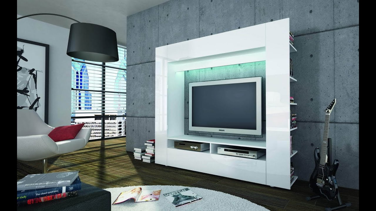 modern custom led tv wall units and entertainment centers designs - Design Wall Units
