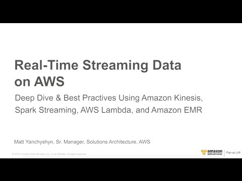 Amazon DynamoDB April 2016 Day at the NY Loft - Real-time Streaming Data on AWS