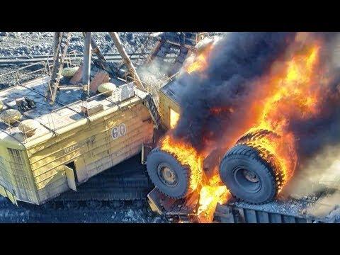 На Бачатском разрезе перевернулся и загорелся БелАЗ