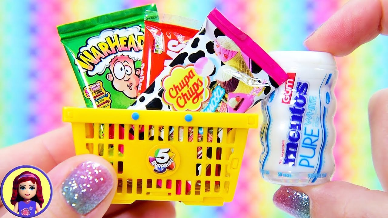 Cute Tiny Groceries Five Surprise Mini Brands Lets Have Candy For