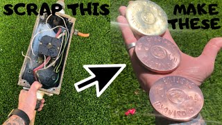 Trash To Treasure - Copper & Brass from Huge Rotary Isolator - ASMR Metal Melting - Dumpster Diving