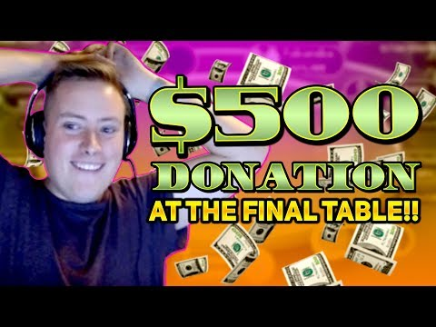 A $500 DONATION ON A FINAL TABLE?!?! PokerStaples Stream Highlights