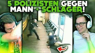 5 POLIZISTEN GEGEN MANN + SCHLÄGER! 👮 | WTF Videos