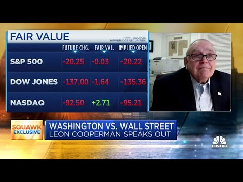 Why Leon Cooperman thinks the stock market will be lower a year from now