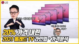 국내 출시한 2021년 LG 올레드 TV 신제품 라인업…