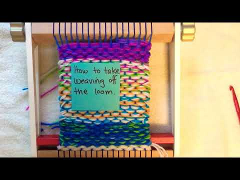 How To Take The Weaving Off The Loom