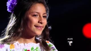 Magallie interpreta Pelea de Gallos por su abuelito Audiciones La Voz Kids 2016