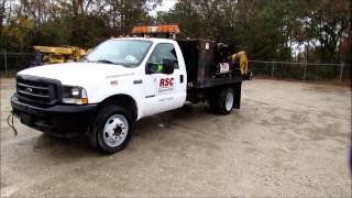 2002 Ford F550 Super Duty Flatbed Lube Truck For Sale | Sold At Auction December 11, 2012
