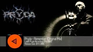 Pryda - Remember (Original Mix) [PRY005]