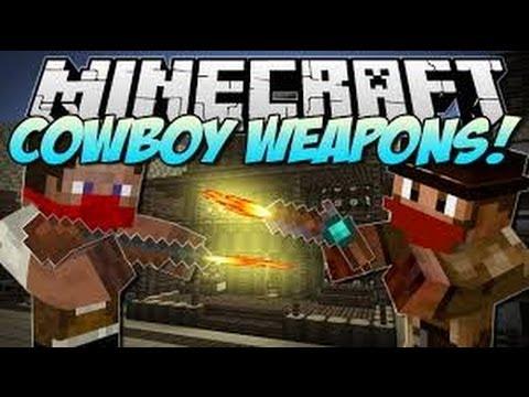 Minecraft Mod Rewiew Flintlock Weapons: COWBOYS!