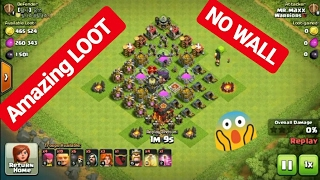 Clash Of Clans / Amazing LOOT / NO WALLS 😱😍 / Clash With Bhargav