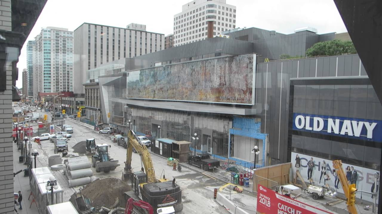 Downtown Ottawa Byward Market Rideau Centre Sinkhole 2016 - YouTube