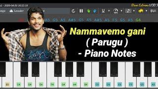 Nammavemo gani ( Parugu ) - Piano Notes   Allu Arjun   Telugu   Tutorial   Notes   Bb Entertainment