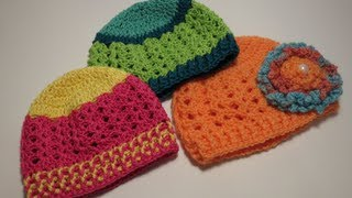 كروشيه قبعه  Crochet Hat 0-3