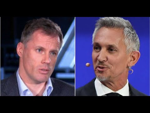 Gary Lineker posts two very different tweets about Jamie Carragher's spitting incident