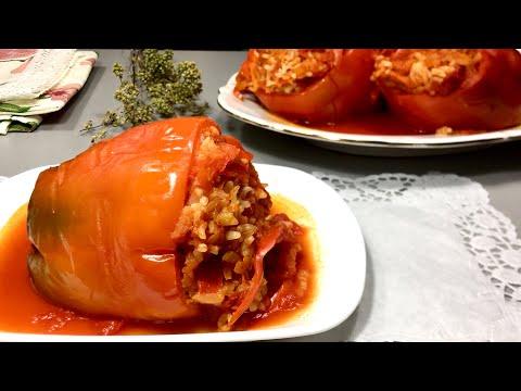 Овощной фаршированный перец без мяса / пп ��