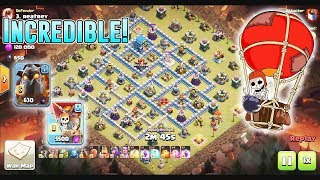 INCREDIBLE!! QW+LAVALOON & LAVALOON ATTACK STRATEGY SMASH TH12 3-STARS ( Clash of Clans )