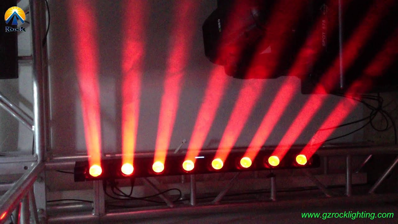 Cree Led Quad Beam Moving Bar 8 8w Rgbw 4in1 Color Perfect