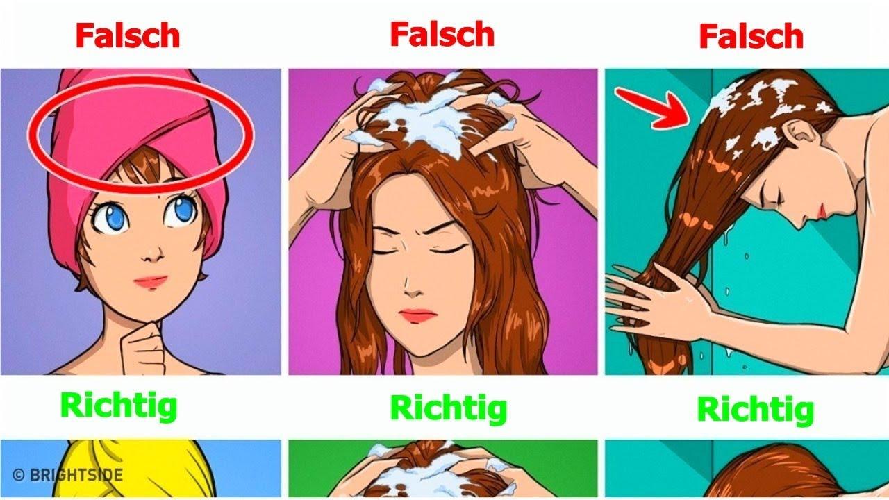 Haare verlieren nach waschen