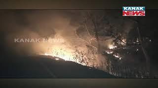 Fire Breaks Out At Kamakhyanagar Block Area