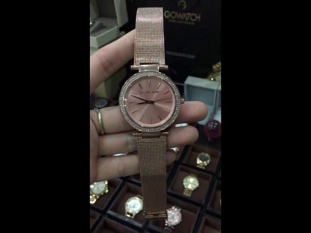 28252a6f4b84 (VIDEO Review) Michael Kors Women s MK3369 - Darci Rose Gold Tone Watch