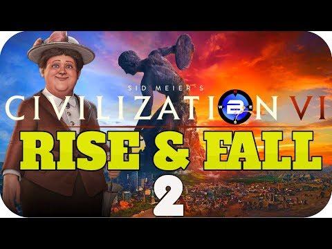 POLDER SQUARED!! ▶Civilization 6 RISE & FALL: WILHELMINA of NETHERLANDS◀ EP2 Civ VI Rise and Fall