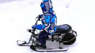 Бюджетный ЭЛЕКТРО снегокат своими руками !!