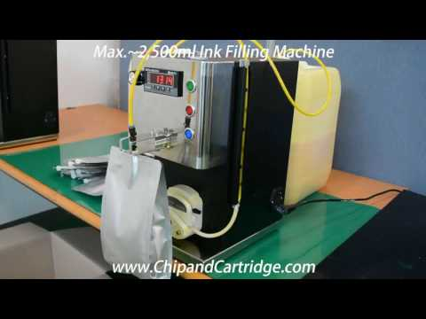 Max.~2,500ml Ink Filling Machine for Wide Format Printing Printer Cartridge and Ink Bag