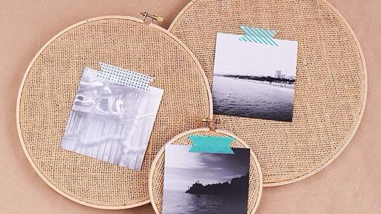 How To Make An Embroidery Hoop Photo Prints Frame - DIY Home ...