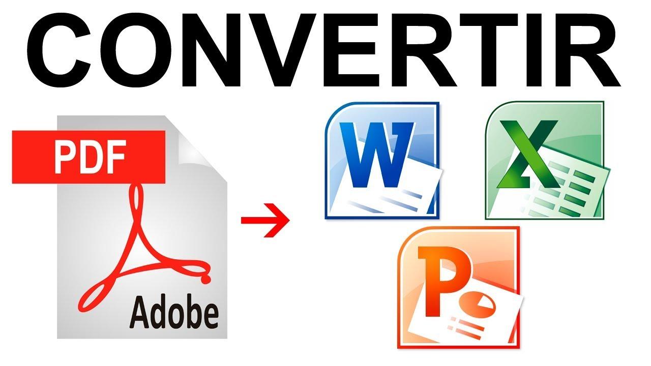 Como convertir un PDF a Word, Excel, Powerpoint 2016 - YouTube