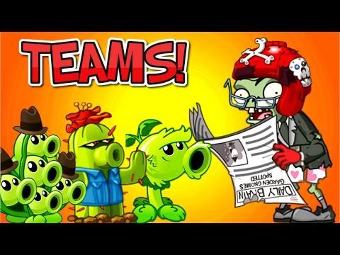 TEAMS Plants vs. Zombies 2 Gameplay Teams vs Newspaper Zombie NEW LEVELS PVZ 2 Game by Primal