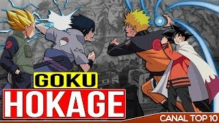 como seria se os sayajins fossem ninjas ?😱 canal top 10 🙌