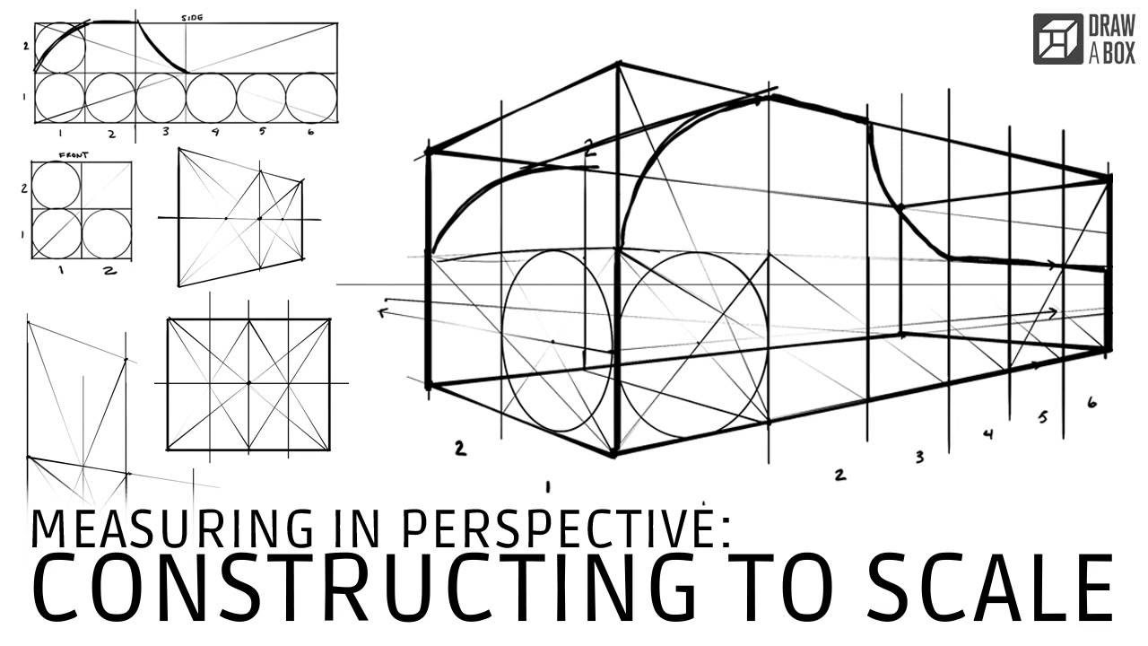 draw to scale Drawabox - Measuring in Perspective: Constructing to Scale - YouTube