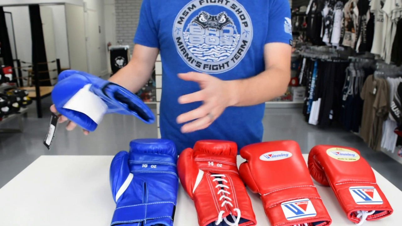 Winning Boxing Gloves Review Lace 14oz MS400 & Velcro 16oz MS-500