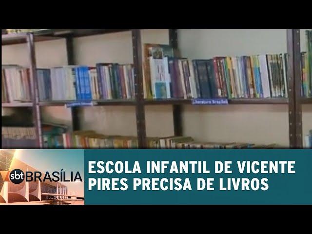 Escola infantil de Vicente Pires precisa de livros | SBT Brasília 18/02/2019
