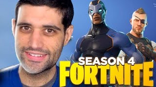 Fortnite, NEW FOURTH SEASON, all skins and NEW items (Fortnite Season 4)