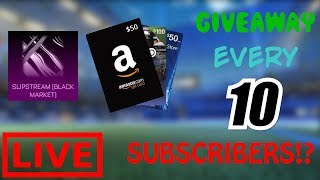 Rocket League LIVE Giveaway (PC/PS4/Xbox/Switch - Every 10 Subs) & Fan Games W/ Subs