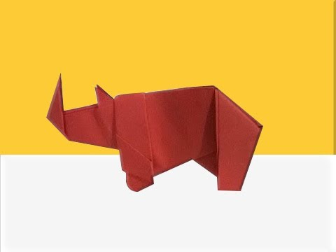 How To Make A Paper Rhino How To Fold An Origami Rhino Origami
