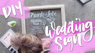 DIY Wedding Glass Wedding Sign