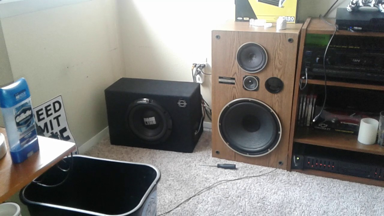 Car audio in house. Alpine Bass Line 10, KICKER DXA125.2 AMP - YouTube