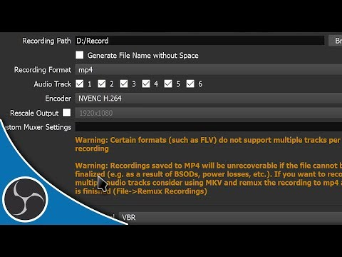 OBS Studio 117 - What File Format Should You Record To? MP4? MKV? FLV? - OBS File Formats Explained