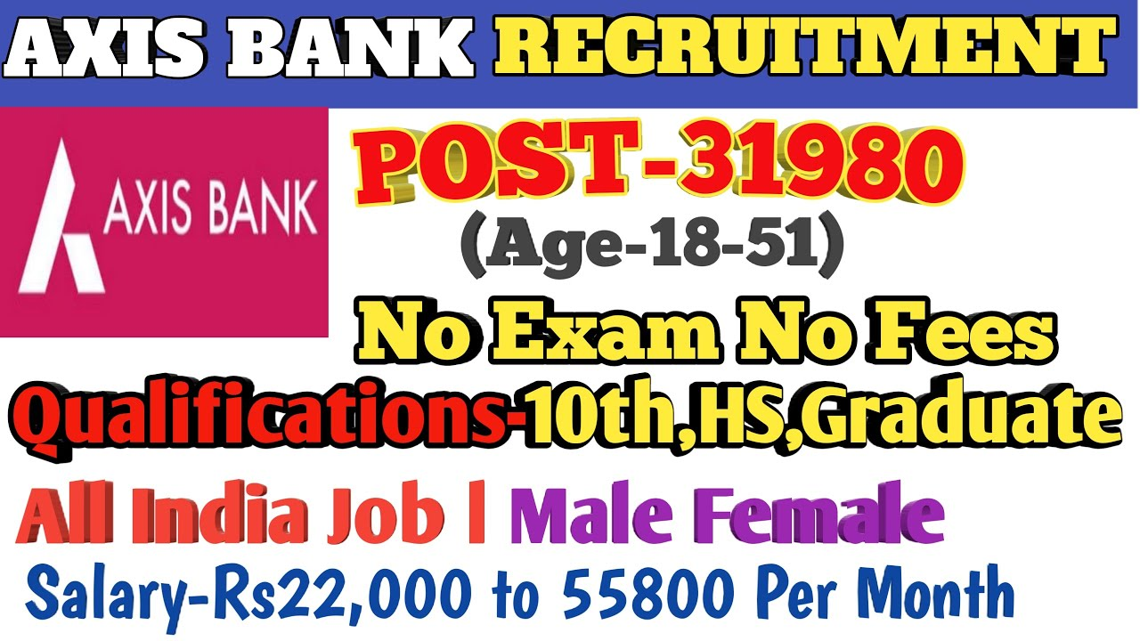 jobs in axis bank mysore