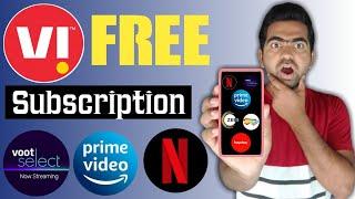 Vi Free 10 OTT Apps Subscriptions | Vi Free Disney Plus Hotstar, Amazon Prime Video, Netflix
