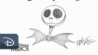 How to Draw Jack Skellington | The Nightmare Before Christmas | Walt Disney World Resort