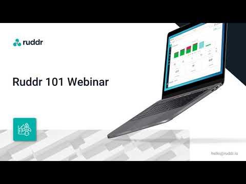 Ruddr 101 Webinar