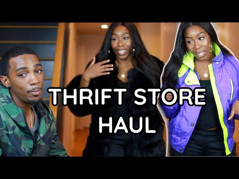 BOYFRIEND RATES MY THRIFT STORE HAUL OUTFITS + VLOG !!!