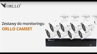 👉ORLLO CAMSET Monitoring Przemysłowy Domu Biura Firmy CCTV Poe  NVR Alarm 📣 Kamery do monitoringu