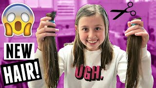 HUGE TEEN HAIR CUT! NEW HAIRCUTS FOR EVERYONE! FAMILY VLOG