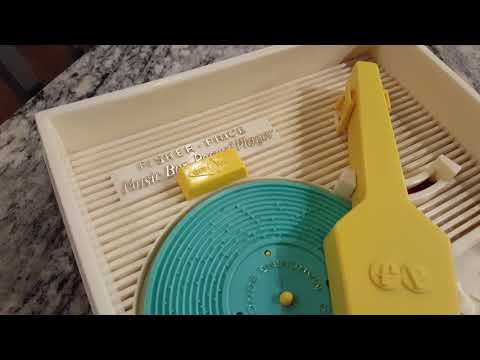 Vintage Fisher Price Music Box-record Player C@ 1971